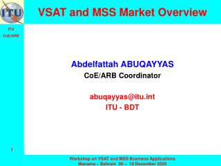 VSAT and MSS Market Overview