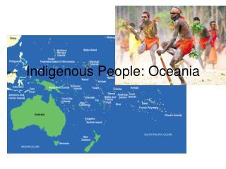 Indigenous People: Oceania