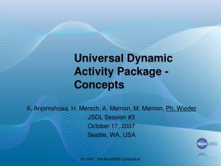 Universal Dynamic Activity Package - Concepts