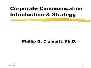 Corporate Communication Introduction  Strategy