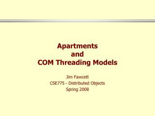 Apartments and COM Threading Models