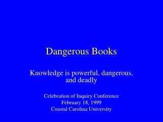 Dangerous Books