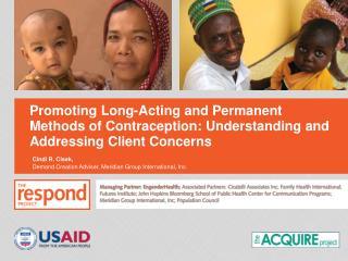 Promoting Long-Acting and Permanent Methods of Contraception: Understanding and Addressing Client Concerns