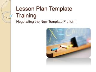 Lesson Plan Template Training
