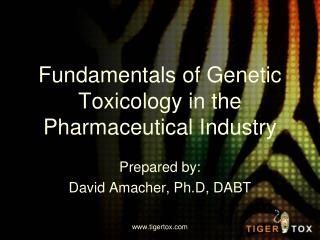 Fundamentals of Genetic Toxicology in the Pharmaceutical Industry
