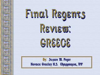 Final RegentsReview:GREECE