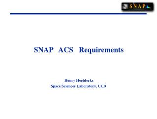 SNAP   ACS   Requirements