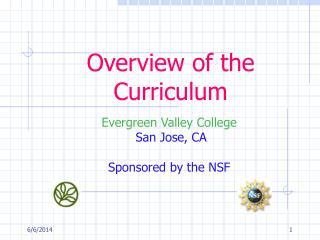 Overview of the Curriculum