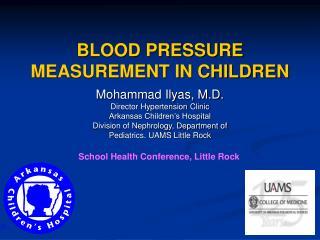 BLOOD PRESSURE MEASUREMENT IN CHILDREN