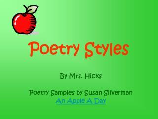 Poetry Styles