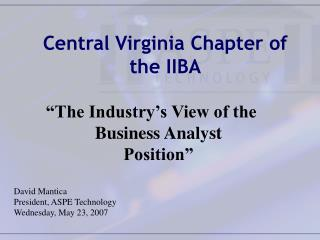 Central Virginia Chapter of the IIBA