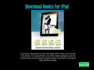 Download Books For iPad - Ebooks For iPad