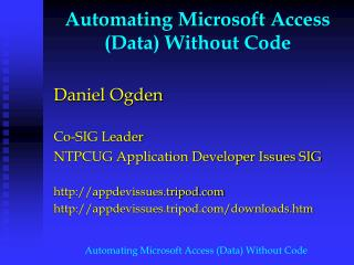 Automating Microsoft Access Data Without Code