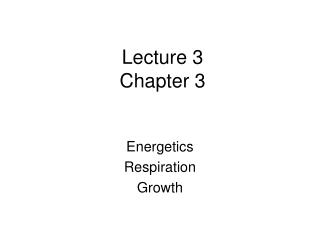 Lecture 3 Chapter 3