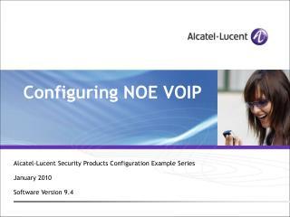 Configuring NOE VOIP