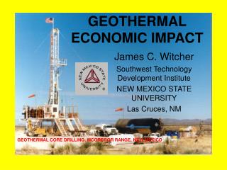 James C. Witcher Southwest Technology Development Institute NEW MEXICO STATE UNIVERSITY Las Cruces, NM