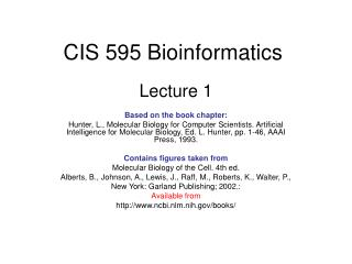 CIS 595 Bioinformatics