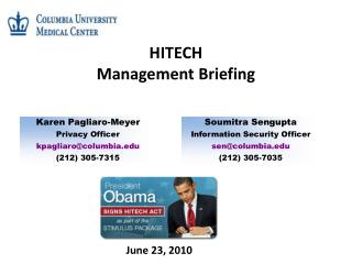 HITECH  Management Briefing