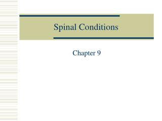 Spinal Conditions