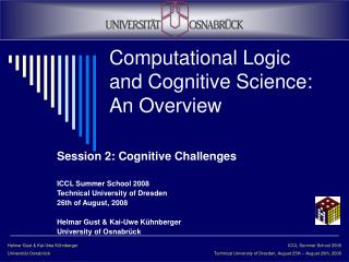 Computational Logic and Cognitive Science: An Overview
