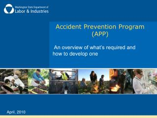 Accident Prevention Program APP