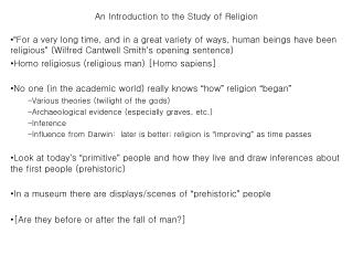 An Introduction to the Study of Religion
