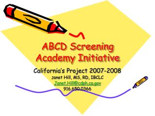 ABCD Screening Academy Initiative