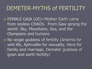 DEMETER-MYTHS of FERTILITY