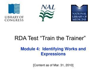 RDA Test  Train the Trainer