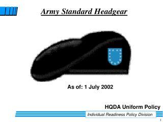 Army Standard Headgear