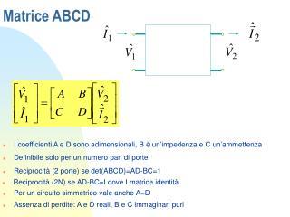 Matrice ABCD