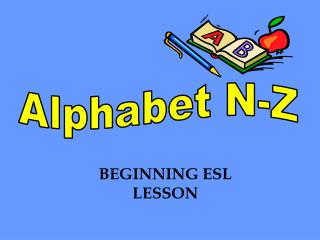 Alphabet N-Z