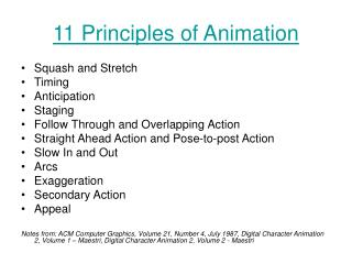 11 Principles of Animation