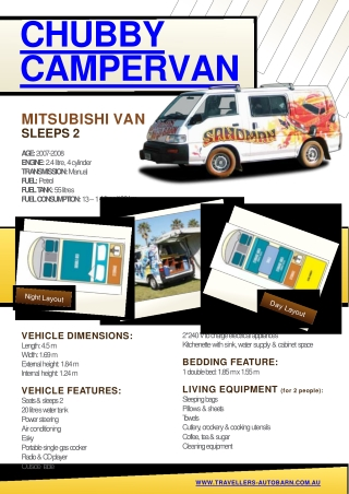 Chubby Camper  Cheap Van Hire Chubby Camper  Cheap Van Hire