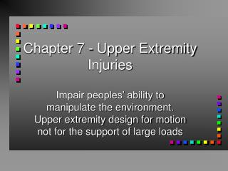 Chapter 7 - Upper Extremity Injuries