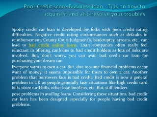 loans with bad credit online