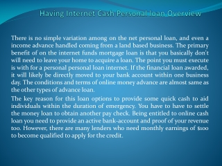 cash loans review