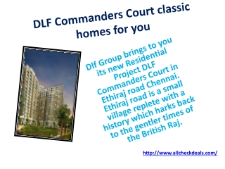 DLF Commanders Court Chennai