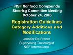 Registration Guidelines Category Additions and Modifications