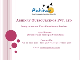 Abhinav Immigration and Visas Consulting Company