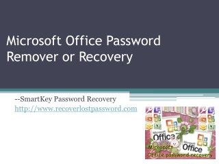 Microsoft Office Password Remover or Recovevry