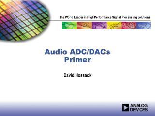Audio ADC