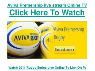 Watch Aviva Premership 2011 | Newcastle Falcons vs Leicester