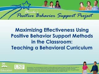 Maximizing Effectiveness Using Positive Behavior Support Methods ...