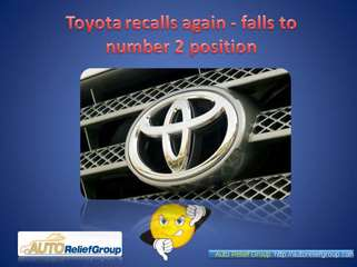 Toyota recalls again - falls to number 2 position
