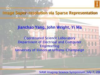 Image Super-resolution via Sparse Representation