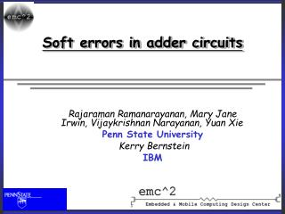 Soft errors in adder circuits