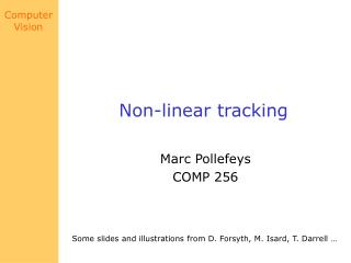 Non-linear tracking
