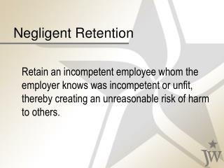 Negligent Retention