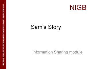 Sam s Story